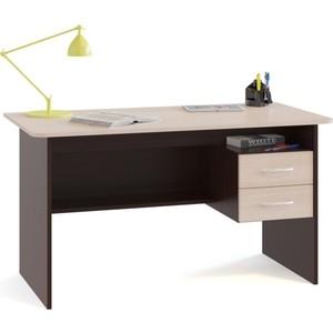 Стол письменный СОКОЛ СПм-07.1 венге/беленый дуб маленький круглый стеклянный стол на кухню кубика шанхай к стекло темно коричневое беленый дуб