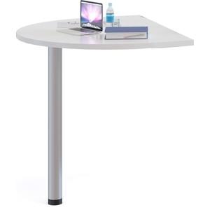 где купить Стол приставной СОКОЛ СПР-03 белый дешево