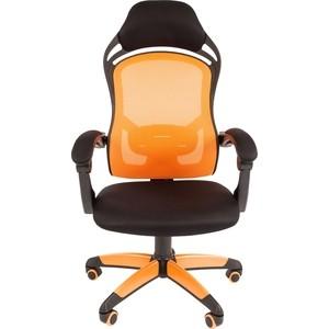 Офисноекресло Chairman game 12 черно-оранжевый самокат черно оранжевый smartscoo