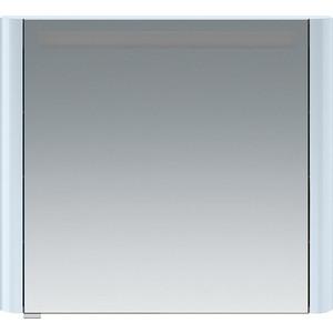 все цены на Зеркальный шкаф Am.Pm Sensation 80 см правый с подсветкой светло-голубой (M30MCR0801BG) онлайн
