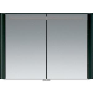 все цены на Зеркальный шкаф Am.Pm Sensation 100 см с подсветкой антрацит (M30MCX1001AG) онлайн