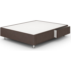 Кроватный бокс Lonax Box Maxi Draiwer (с ящиками 80x60) Эко Кожа (Стандарт) 90x200 коричневый