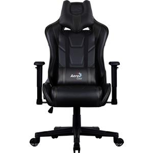 Кресло для геймера Aerocool AC220 AIR-B черное с перфорацией цена и фото