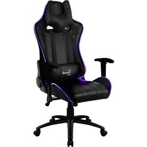 Кресло для геймера Aerocool AC120 RGB-B черное с перфорацией и RGB подсветкой