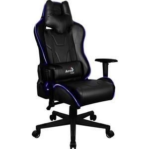 Кресло для геймера Aerocool AC220 RGB-B черное с перфорацией и RGB подсветкой ac120 rgb b
