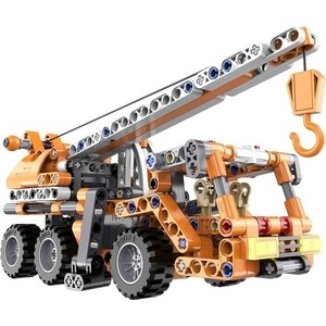 Конструктор Cada Technics строительный кран с инерционным механизмом, 272 детали конструктор cada technic convoy truck rc49602