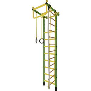 Детский спортивный комплекс Лидер Г-02 (турник с коротким хватом) зелёно/жёлтый