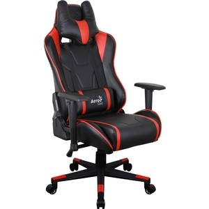 Кресло для геймера Aerocool AC220 AIR-BR черно-красное с перфорацией