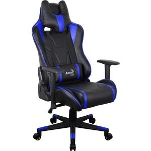 Кресло для геймера Aerocool AC220 AIR-BB черно-синее с перфорацией недорго, оригинальная цена