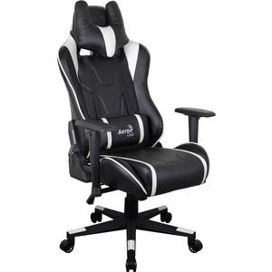 Кресло для геймера Aerocool AC220 AIR-BW черно-белое с перфорацией недорго, оригинальная цена