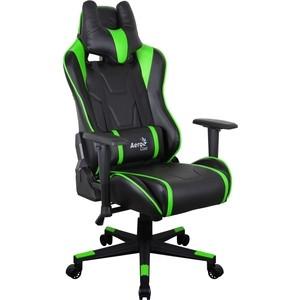 Кресло для геймера Aerocool AC220 AIR-BG черно-зеленое с перфорацией