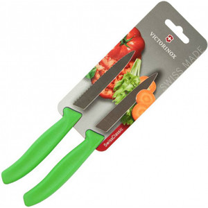 Набор ножей 2 предмета Victorinox зеленый (6.7796.L4B) набор ножей 3 предмета victorinox 6 7113 31