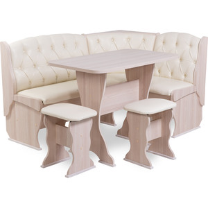 Набор мебели для кухни Бител Орхидея - люкс (ясень, Борнео крем, ясень)