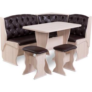 Набор мебели для кухни Бител Орхидея - люкс (ясень, Борнео умбер, ясень)