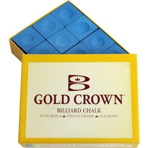 Мел Brunswick Gold Crown Blue 12 шт. мел tweeten triangle blue 72шт