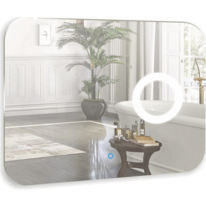 Зеркало Mixline Лиза 800х600 сенсорный выключатель+увеличит. зеркало (4620001984985) зеркало mixline восторг 515х740 4620001980338