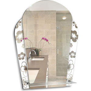 Зеркало Mixline Нарцисс 535х735 с полкой (4620001980727) зеркало mixline готика 535х685 с полкой 4620001980376