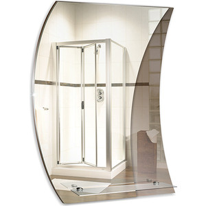 Зеркало Mixline Флагман 535х740 с полкой (4620001981069) зеркало для прихожей с полкой
