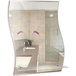Зеркало Mixline Волна-Люкс 470х685 с полкой и фацетом (4620001980307) зеркало д ванной модерн люкс 60х80 см с полкой фацетом 10мм