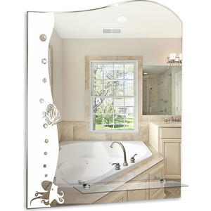Зеркало Mixline Бриз 535х660 с полкой (4620001980215) зеркало mixline готика 535х685 с полкой 4620001980376