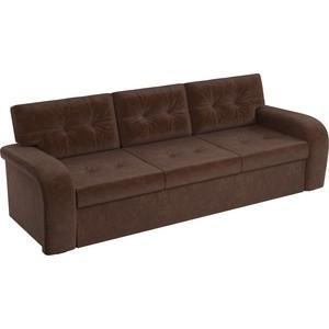Диван АртМебель еврокнижка Классик микровельвет коричневый диван еврокнижка ева