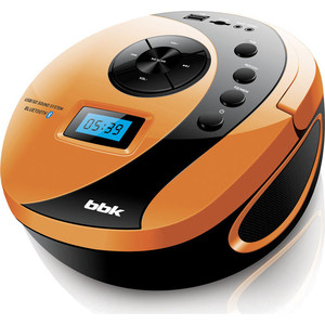 Магнитола BBK BS10BT черный/оранжевый магнитола rolsen rbm411or оранжевый