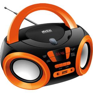 Магнитола Hyundai H-PCD120 черный/оранжевый цена и фото