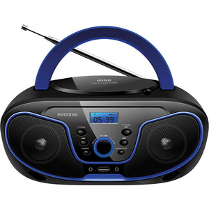 Магнитола Hyundai H-PCD160 черный/синий цена