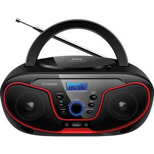 Магнитола Hyundai H-PCD180 черный/красный цена