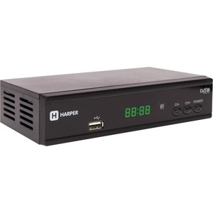 Тюнер DVB-T2 HARPER HDT2-2015 цифровой телевизионный dvb t2 ресивер harper hdt2 2015 экран черный full hd dvb t dvb t2 поддержка внешних жестких дисков