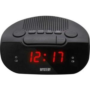 Радиоприемник Mystery MCR-21 черный/красный радиочасы с будильником mystery mcr 68 black