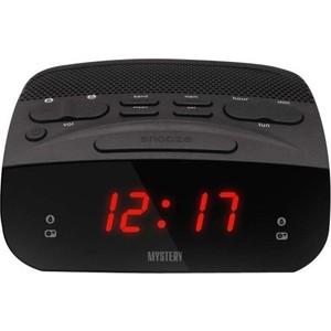 Радиоприемник Mystery MCR-23 черный/красный радиочасы с будильником mystery mcr 68 black