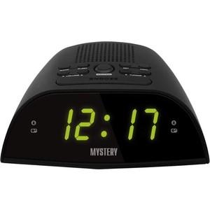 Радиоприемник Mystery MCR-48 черный/зеленый радиочасы с будильником mystery mcr 68 black