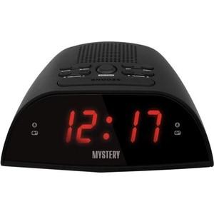 Радиоприемник Mystery MCR-48 черный/красный радиочасы с будильником mystery mcr 68 black