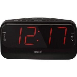 Радиоприемник Mystery MCR-68 черный/красный радиочасы с будильником mystery mcr 68 black