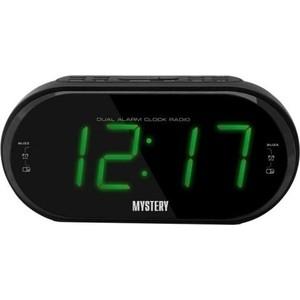 Радиоприемник Mystery MCR-69 черный/зеленый радиочасы с будильником mystery mcr 68 black