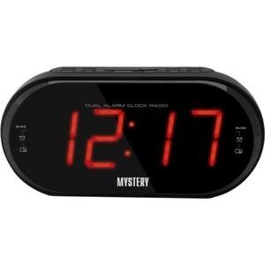 Радиоприемник Mystery MCR-69 черный/красный радиочасы с будильником mystery mcr 68 black