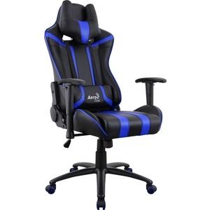 Фотография товара кресло для геймера Aerocool AC120 AIR-BB черно-синее с перфорацией (814287)