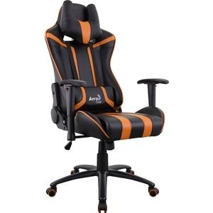 Фотография товара кресло для геймера Aerocool AC120 AIR-BO черно-оранжевое с перфорацией (814290)