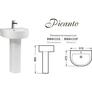 Раковина BelBagno Picanto 51 (BB0122L) тдм sq0515 0122