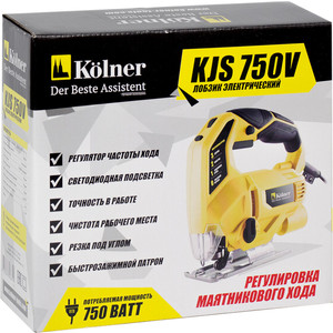 Лобзик Kolner KJS 750V электрический лобзик kolner kjs 600vn