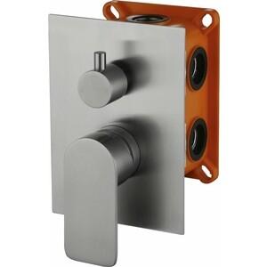 Смеситель для ванны BelBagno Nova встраиваемый с переключателем, нержавеющая сталь (NOV-SDMC-IN) смеситель для кухни belbagno с выдвижным изливом нержавеющая сталь сатин bb lam38 in