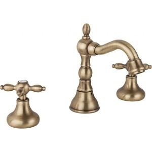 цены на Смеситель для раковины Cezares Atlantis-Nostalgia на три отверстия с клапаном, бронза (ATLANTIS-NOSTALGIA-BLS2-02) в интернет-магазинах