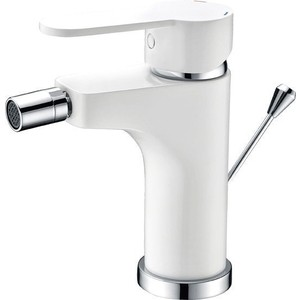 Смеситель для биде Cezares Laconico с донным клапаном, белый (LACONICO-C-BS-BLC) смеситель для биде smartsant тренд sm054005aa