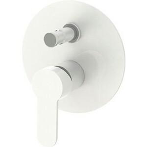 Смеситель для ванны Cezares Laconico встраиваемый с переключателем, Bianco Lucido Cromo (LACONICO-C-VDI-BLC) настенная плитка ava eden bianco lucido isper 32 1x96 3