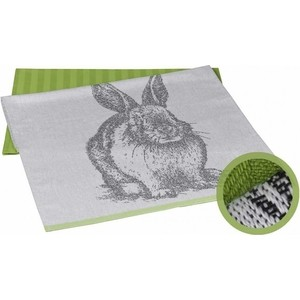 Набор кухонных полотенец Hobby home collection Rabbit зелёный 50x70 2 штуки (1501001628) набор из простыни и наволочек hobby home collection 160x200 50x70 2 синий 1501000726