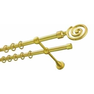 Карниз DDA 16 мм двойной Золото глянец 3.2 составной карниз dda 16 мм одинарный сатин 3 2 составной