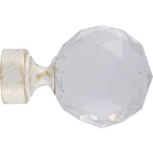 Наконечники 2 штуки DDA 28 мм Орион Белое золото (28.01.34.105 ) наконечники 2 штуки dda 28 мм антик белое золото 28 01 50 105