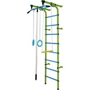 Детский спортивный комплекс Формула здоровья Непоседа-1В ПЛЮС салатовый/голубой непоседа детский комплект зайки непоседа