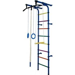 Детский спортивный комплекс Формула здоровья Непоседа-1В ПЛЮС синий/радуга спортивный комплекс формула здоровья мечта 1в плюс синий радуга